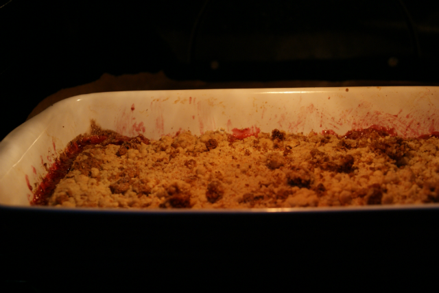 Crumble in oven