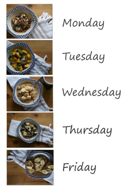 Weekday breakfast ideas