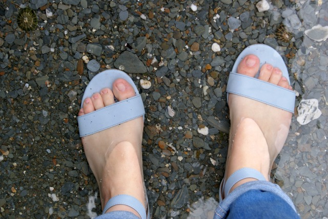 Favourite new sandals (which swiftly got a dip in the sea, can't help myself)